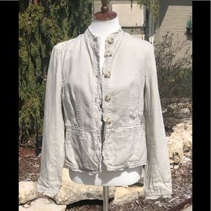 Michael Kors sz 8 tan linen light jacket